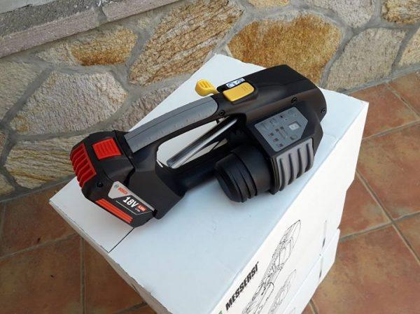 Ručni Alat za vezanje trakom MB820 16-19mm Baterijski alat za vezanje PET/PP trake w/ Baterija & Punjač 3