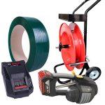 Baterijski alat za vezivanje MB620 set PET traka + razmotač + baterija + punjač