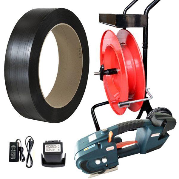 baterijski-set-za-pakiranje-TES-12-16mm-PP-traka-razmotač